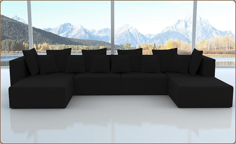 sofadirekt modell millenium alcantara look 6 farben 2 ausrichtungen. Black Bedroom Furniture Sets. Home Design Ideas