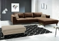 "Preview: Modell "" CHESTERFIELD 3 + E + 3 + BETT"" MODULARES ECKSOFA MIT BETTFUNKTION IN LEDER LOOK PREMIUM"