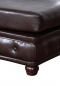 "Preview: Modell "" CHESTERFIELD"" HOCKER - KLEIN (75 x 70 cm) IN LEDER LOOK PREMIUM"