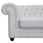 "Preview: Modell "" CHESTERFIELD EMPIRE ""  3ER SITZER SOFA IN LEDER LOOK PREMIUM"
