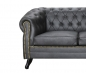 "Preview: MODELL:  "" CHESTERFIELD ROYCE "" 3- SITZER SOFA IN LEDER LOOK PREMIUM"