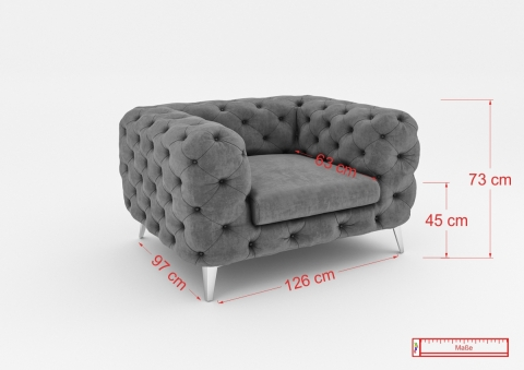"Modell ""CHESTERFIELD ROYAL"" SESSEL IN STOFF SAMT PREMIUM"