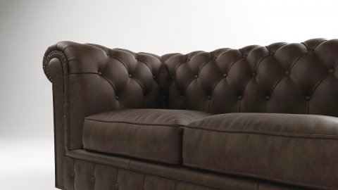 "MODELL:  "" CHESTERFIELD MOCCA "" 3-SITZER SOFA IN STOFF ""AMORE"" PREMIUM"