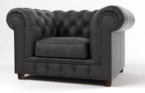 "MODELL:  "" CHESTERFIELD MOCCA "" SESSEL IN STOFF ""AMORE"" PREMIUM"