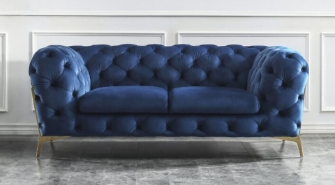 "Modell ""CHESTERFIELD ROYAL LONG LEGS"" 2-SITZER SOFA IN STOFF SAMT PREMIUM"