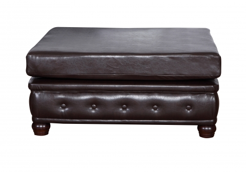 "MODELL "" CHESTERFIELD"" HOCKER - GROSS (100 x 100 cm) IN LEDER LOOK PREMIUM"
