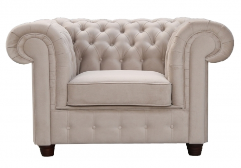 "MODELL:  "" CHESTERFIELD EMPIRE "" SESSEL IN SAMTSTOFF VELVET PREMIUM"