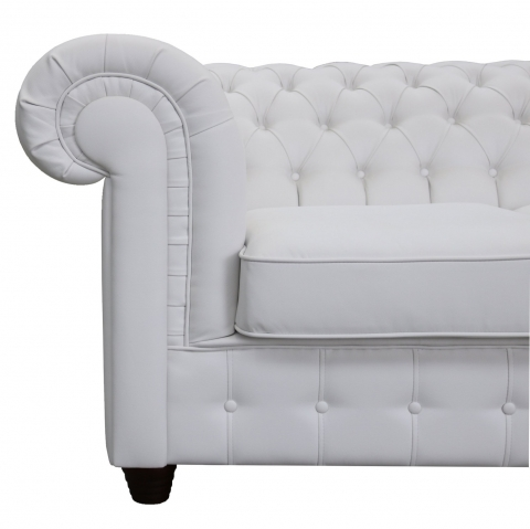 "Modell "" CHESTERFIELD EMPIRE ""  3ER SITZER SOFA IN LEDER LOOK PREMIUM"