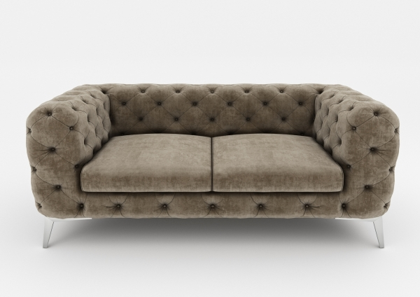 "Modell ""CHESTERFIELD ROYAL"" 2-SITZER SOFA IN STOFF SAMT PREMIUM"
