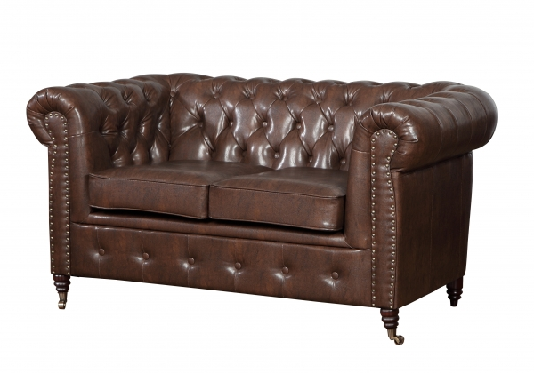 "MODELL:  "" CHESTERFIELD CLASSIC ""  HOCKER GROSS ( 100 X 100 ) IN  INDUSTRIAL STYLE LEDER LOOK PREMIUM *)"