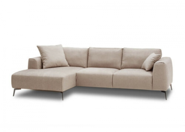 "Modell "" CHESTERFIELD 3 + E + 3 + BETT"" MODULARES ECKSOFA MIT BETTFUNKTION IN LEDER LOOK PREMIUM"