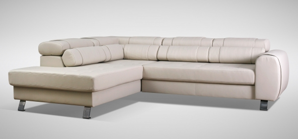 "MODELL ""FERRARA"" ECKSOFA MIT BETTFUNKTION IN LEDER LOOK PREMIUM"