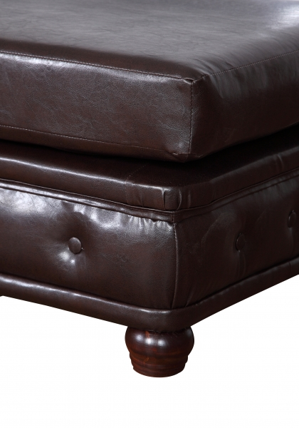 "Modell "" CHESTERFIELD"" HOCKER - KLEIN (75 x 70 cm) IN LEDER LOOK PREMIUM"
