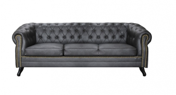 "MODELL:  "" CHESTERFIELD ROYCE "" 3- SITZER SOFA IN LEDER LOOK PREMIUM"